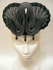 Pleated Hempbraid headpiece, 2013