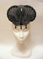 Pleated Hempbraid headpiece, 2013