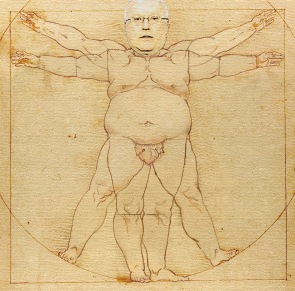 Proportions of Brandis, 2015, After Leonardo Da Vinci, George Brandis Live Art Experience series