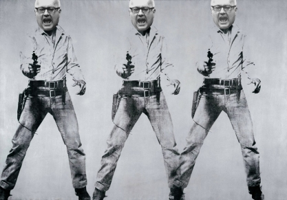 Gimme All the Funding, 2015, After Andy Warhol, George Brandis Live Art Experience series